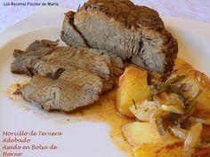 Esta receta de Morcillo de Ternera adobado asado en Bolsa de horno, a sido una de las experiencias más satisfactorias de los experimentos en el horno.