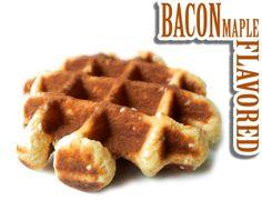 Bacon Maple Energy Waffle Caffeinated waffles???