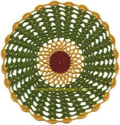 colorfull doily