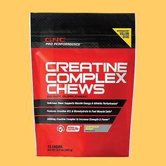 GNC Pro Performance Creatine Complex Chew  Lemonade Burst 72 Chews >>> More info could be found at the image url.
