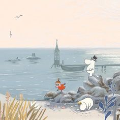 Little My Moomin, Moomin Wallpaper, Moomin Valley, Tove Jansson, Cute Little Things, Winter Art, Photo Illustration, Amazing Art, Coloring Books
