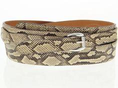 Mens crocodile snake exotic leather belt genuine python dress western cowboy new #Handmade