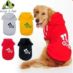 Large Dog Clothes Coat Hoodies Clothing For Dog Big Size Spring Warm Hoodie Apparel Sportswear perros mascotas Adidog Golden Dog -- Find out more about the great product at the image link.