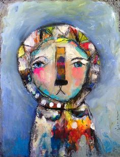 Mystery - an Original Mixed Media Painting 11x14 on Canvas by Juliette Crane