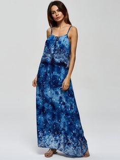 Only US$28.99 , shop Bohemian Women Printed Spaghetti Strap Long Maxi Dresses at Banggood.com. Buy fashion Maxi Dresses online.