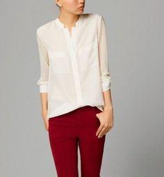 camisa blanca transparente Outfits Con Camisa e8bebfbab13