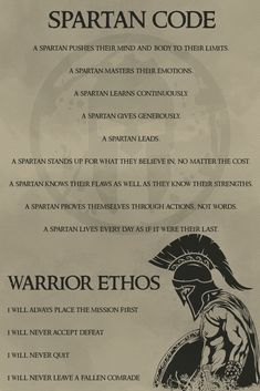 – Spartan Code English – Warrior Poster – Spartan Code Englisch – Warrior Poster This image has get. Wisdom Quotes, Quotes To Live By, Me Quotes, Motivational Quotes, Inspirational Quotes, Latin Quotes, Warrior Spirit, Warrior Quotes, Spartan Quotes