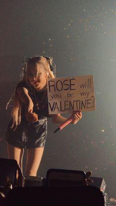 Plz be my valentine rosieeeee😭😭😭😭 Blackpink Jisoo, Blackpink Jennie, Foto Rose, Chica Cool, Blackpink Members, K Wallpaper, Applis Photo, Rose Icon, Black Pink Kpop