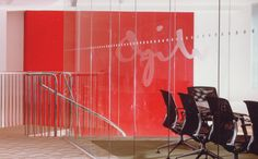 The Concept, conceived in a Men's Club in Central London on a napkin, was inspired to reflect the newly design Virgin Atlantic First Class Lounge.    This boutique-style corporate environment created a sense of strong innovative BRANDING for the global advertising firm that SET THEM APART from their competition.