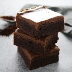 If you're dying to know what makes these Fudge Brownies the best brownie ever then click this recipe to learn the secret ingredient.