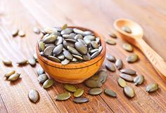 Pregnancy Super-Foods For All 3 Trimesters - PureWow Raw Pumpkin Seeds, Roasted Pumpkin Seeds, Vegan Documentaries, Healthy Pregnancy Food, Snacks Saludables, Iron Rich Foods, Pregnant Diet, Superfoods, Good Food