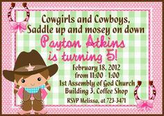 Pink and Green Cow Girl Birthday Party by ashspartyinspiration, $10.00
