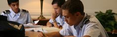 Riverside Military Academy Cadets during Study Hall