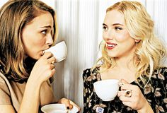 Natalie Portman and Scarlett Johansson enjoy a cup of tea!