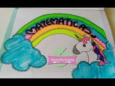 Aprende a marcar tus cuadernos con unicornio y arcoiris en   Hecho con estilo - YouTube Dory, Tumbler, Notes, Youtube, Vestidos, Decorated Notebooks, Bebe, Report Cards, Drinkware