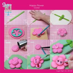 Happy Flower tutorial by Sugar High Inc. - close up picture https://www.facebook.com/photo.php?fbid=729607500423423&set=pb.195005547216957.-2207520000.1401852773.&type=3&theater