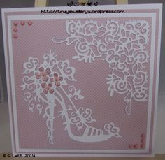 Jewellery making and paper crafts - adventures and misadventures Tattered Lace Cards, Dress Card, Birthday Cards For Women, Parchment Craft, Die Cut Cards, Lace Design, I Card, Making Ideas, Wedding Cards