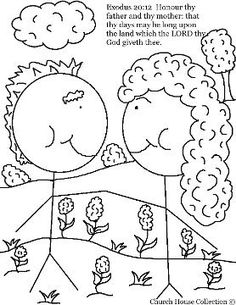Ten Commandments Coloring Page for Third Commandment Thou