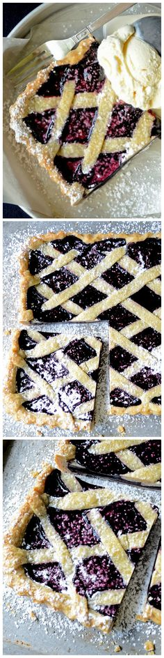 Inspired by classic linzer torte, this Mulberry Tart evokes the simplicity of days gone by. It's fruity, sweet, buttery and heaven with vanilla ice cream.