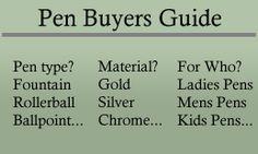 Pen Buyers Guide http://www.jmpennifeather.co.uk/