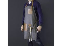 Arrow Leather Goods Canvas and Leather Apron - Yuppiechef