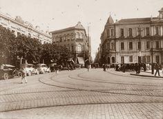 1916 - Largo de São Bento. Adiante segue a rua São Bento, a esquerda a rua Boa Vista e na lateral a esquerda segue a rua Florêncio de Abreu.