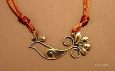 quilled paper necklace, cute