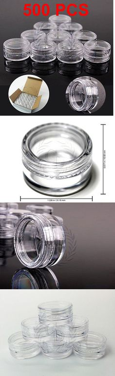Storage and Empty Containers: 500 High Quality 5 Gram Clear Lid Jars - Makeup Cream Sample Container 5G 5Ml -> BUY IT NOW ONLY: $55.79 on eBay!
