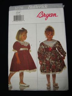 Butterick Girls Formal Party Christmas  Dress Sewing by Vntgfindz