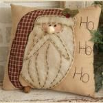 "Stitchery - Pillow, ""Ho,Ho,Ho"" Santa"