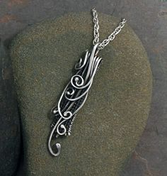Sterling Silver Pendant Waterfall - beautiful and organic