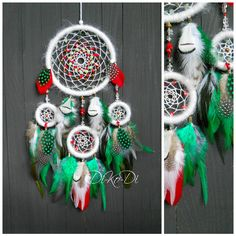 Christmas dream catcher, Christmas decoration Dreamcatcher, Christmas decorations, Christmas gift, large dreamcatcher, Bohemian dreamcatcher by dikodihandmade on Etsy