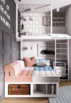 dream rooms for girls teenagers - dream rooms . dream rooms for adults . dream rooms for women . dream rooms for couples . dream rooms for adults bedrooms . dream rooms for girls teenagers Cute Bedroom Ideas, Cute Room Decor, Girl Bedroom Designs, Room Ideas Bedroom, Awesome Bedrooms, Cool Rooms, Bedroom Loft, Bed Ideas, Cool Kids Bedrooms