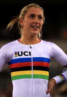 Laura Kenny during round two of the Revolution Series Champions League at Lee Valley VeloPark London