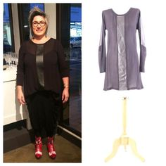 We love what Leigh has put together at the recent Evolve VIP evening. She is wearing the Obi Samurai Leather Zeb Top and the Super Slouch Pants from Chocolat. #weloveouretailers #supportnzmade #realnzleather
