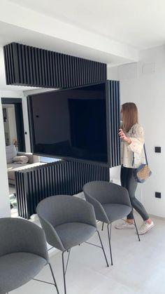 Home Theater Room Design, Hotel Room Design, Home Interior Design, Living Room Modern, Home Living Room, Living Room Designs, Home Decor Furniture, Furniture Design, Living Room Partition Design