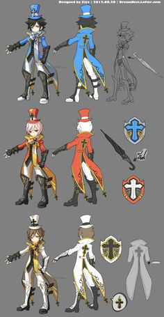The Cleric part of my entries to the Dragon Nest China Server's second costume design contest. Model archers: the one in blue is my Crusader named Black rabbit , but Tenko plays this character the ...