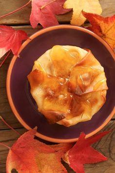 baked korean pears in wonton crisps honey cinnamon mascarpone honey ...