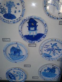 Blue Willow project I did with 2nd Grade. YouTube has some great videos about the legend. I students selected a part of the plate they like best and did a close up using tints and shades of blue. They were all very awesome. We painted on Chinet paper plates cause the are more durable.