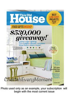 this old house one year magazine subscription print edition - Houses Magazine Subscription