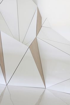 space sectioned. pyramid. geometry. slice