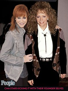 CMA Stars Kicking It with Their Younger Selves | REBA MCENTIRE | Music fans know they can always count on country queen McEntire for a red-hot performance.