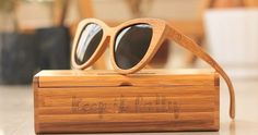 Keep it Catty in Woodgeek Cateye Sunglasses. They're stylish and protects your eyes with its polarized lenses. #Personalized #WoodenEyewear #Sunglasses