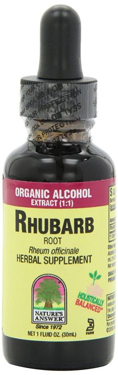 Nature's Answer Rhubarb Root with Organic Alcohol, 1-Fluid Ounce ** Don't get left behind, see this great  product : Herbal Supplements