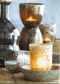 Roost Estelle Etched & Caledonia Candle Holders, Set/4 – Modish Store