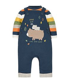 Dungaree and Bodysuit Set