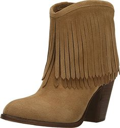 FRYE Women's Ilana Fringe Short Biscuit Beautiful ladies booties. These boots are so trendy and make a lady look sexy. Trendy womens boots, sexy women motorcycle boots,  sexy women leather boots,  sexy women winter boots,  sexy winter boots women,  sexy motorcycle boots women,  sexy biker boots for women,