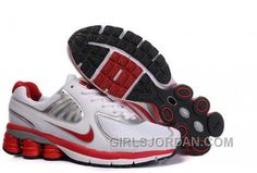 Now Buy Women's Nike Shox Shoes White/Red/Silver Top Deals Save Up From Outlet Store at Jordany. Mens Nike Shox, Nike Shox For Women, Michael Jordan Shoes, Air Jordan Shoes, New Jordans Shoes, Men's Shoes, Shoes 2017, Air Jordans, Puma Shoes Online