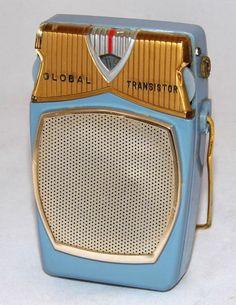 https://flic.kr/p/EcE5pQ   Vintage Global Transistor Radio Model GR-711, AM Band Only, 6 Transistors, Reverse Paint, Made In Japan, Circa 1959 - 1962