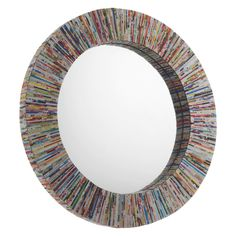HABITAT Cohen Multi-coloured recycled magazine small round wall mirror Home Décor UK Recycled Paper Crafts, Recycled Magazines, Old Magazines, Round Wall Mirror, Round Mirrors, Floor Mirrors, Large Mirrors, Magazine Photo Frame, Habitat Furniture